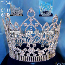 Wholesale Rhinestone Full Round Crown T-34