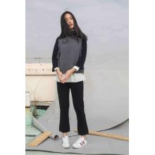 Best quality and factory for High Neck Cashmere Sweater The 2-Tone Funnel Neck supply to East Timor Factory