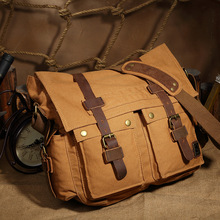 Custom Crossbody Messenger Laptop Canvas Shoulder Bags Men