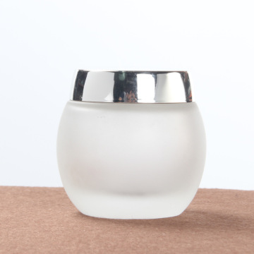 120g drum shape frosted glass jar