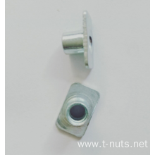 Square white Zinc Plating Weld nuts