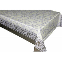 Pvc Printed fitted table covers Table Linens White