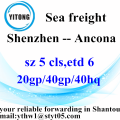 Shenzhen Sea Freight Shipping Services to Ancona
