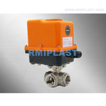 Electric Three Way Ball Valve 304 316