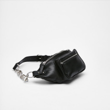 Fashion Chain Leather Messenger Chest Waist Bag