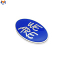 High end enamel small metal logo custom