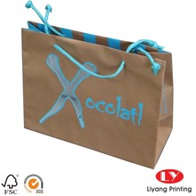Brown decorative quality kraft paper bags