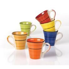 Hand made colorful ceramic coffee mugs