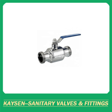 Sanitary direct way ball valves male thread end