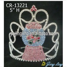 Colored Rhinestone Snowman Christmas Pageant Crowns