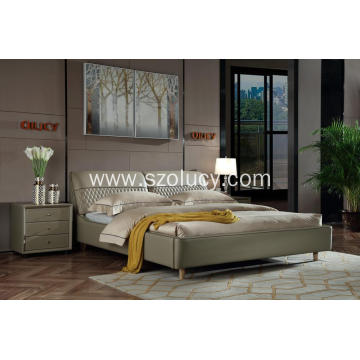 Grey wild fashion soft bed