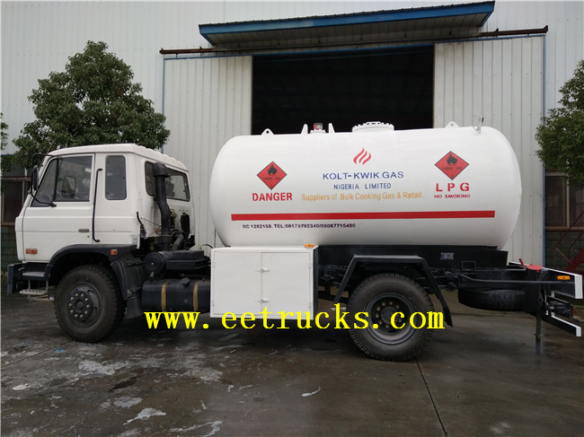 LPG Gas Cylinder Filling Truck