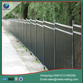 pvc coated steel fence metal iron fence