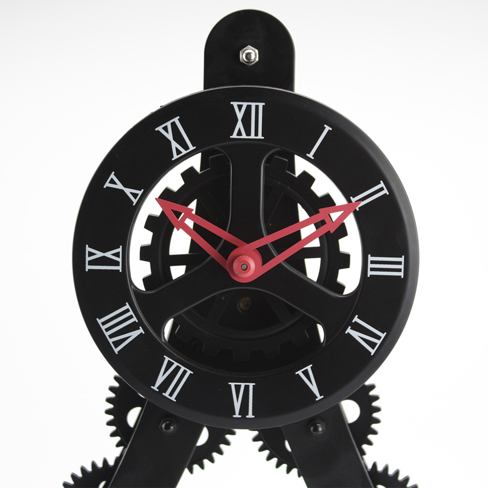black gear clock