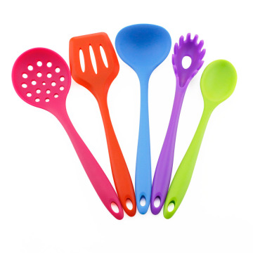 5PCS Heat Resistant Colorful Silicone Kitchen Utensil Set