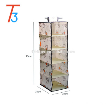 5 tiers Soft Storage Hanging Accessory Shelves,hanging clothes closet storage organizer
