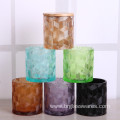 Wholesale Colored Glass Candle Jar with Lid