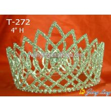 Rhinestone Cheap Full Round Pageant Crowns For Sale