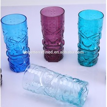 High Quality for Large Tea Mugs Blown Colored Tiki Glass Mug For Sale export to Comoros Manufacturers