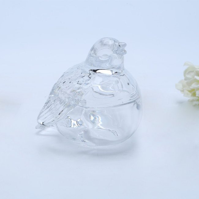 bird Shaped Glass Candy Jar