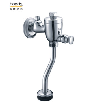 Polished Brass Chrome Urinal Flush Valve