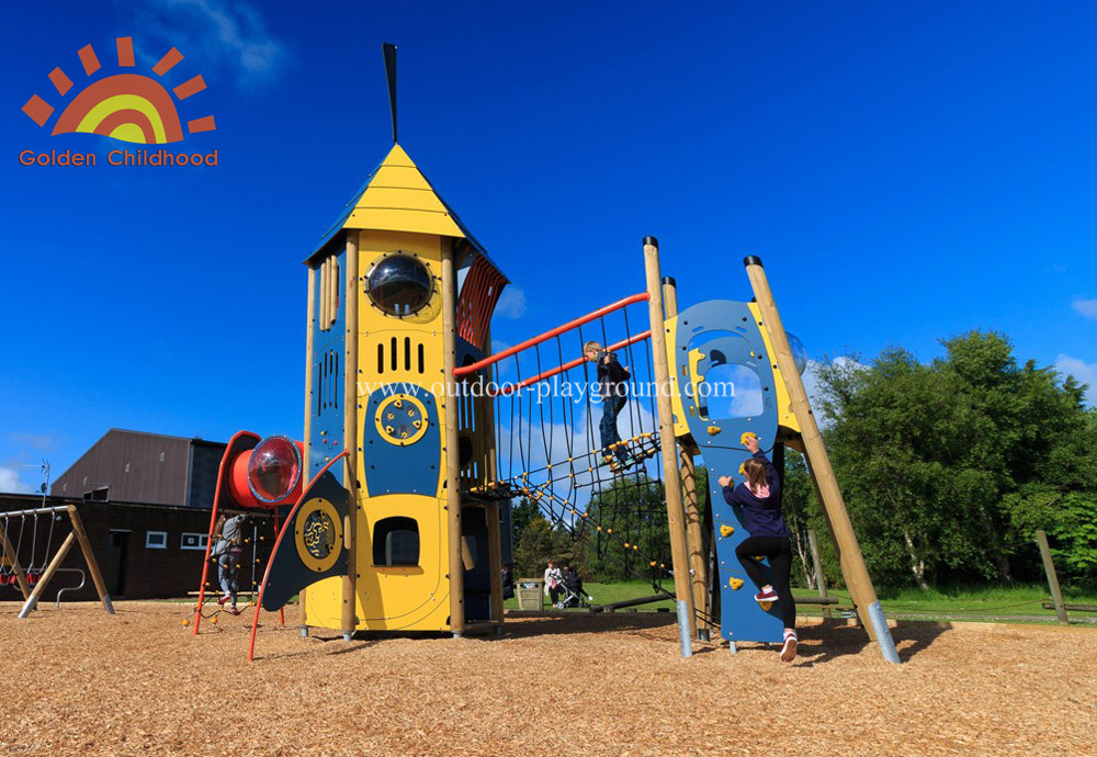 Hpl Mutiplay Outdoor Activity Tower Tube Silde Playground For Children
