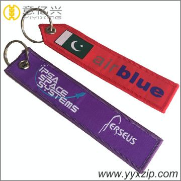 advertising Colorful express flight woven key tag