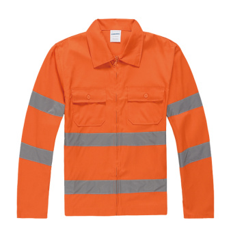 Poly-cotton Long sleeve safety clothing