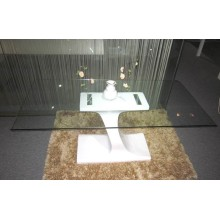 Modern white high gloss dining table