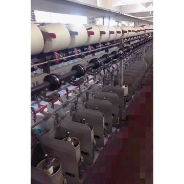 Short fiber two-for-one twister textile machine