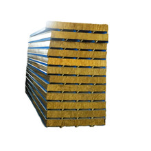 low cost galvanized rock wool sandwich panel