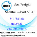 Shantou Port Sea Freight Shipping To Port Vila