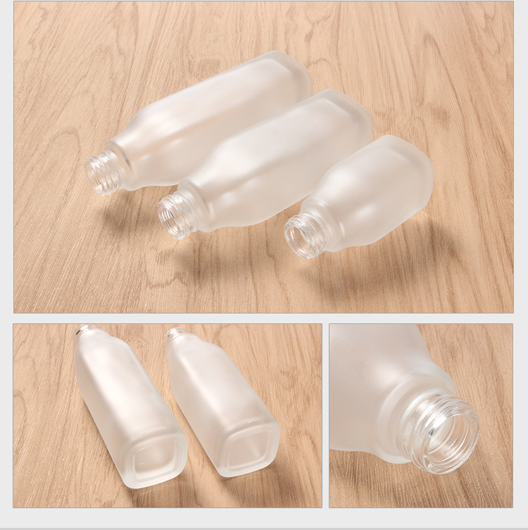 Spot cosmetics glass bottle lotion spray bottle color spray bottle inside the cork bottle wood process can be printed (2)