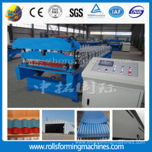 Good Quality for Glazed Tile rollform machine Colored steel roof panel corrugated roll forming machine export to Cyprus Manufacturers