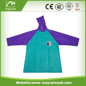 Colorful PVC Kids Raincoat