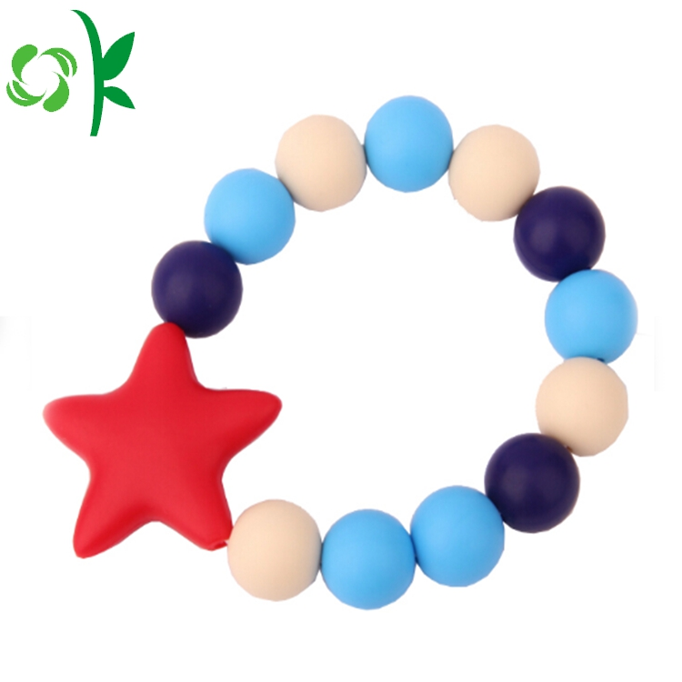 Fashion Beads Silicone Bracele