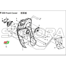 F-04 Front Cover for XS125T-16A Fiddle III Spare Part Top Quality