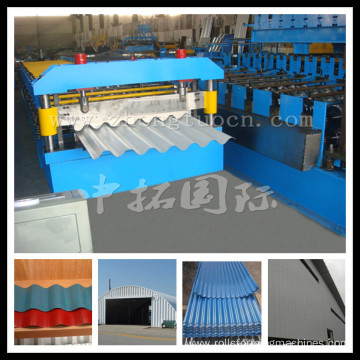 Zinc Coated Corrugated Roof Panel Roll Forming Machine