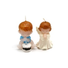 Fast Delivery for Red Human Figure Candle Angel baby decorative personality small candle export to Mayotte Suppliers