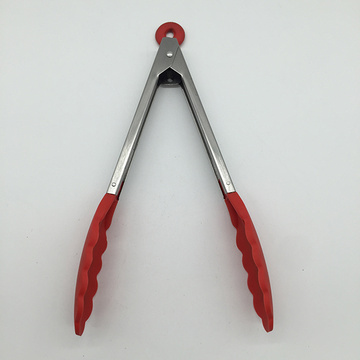 Stainless Steel Food Tong with Silicone Tips