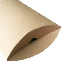 New Arrived Elegant Plain Kraft Paper Pillow Box