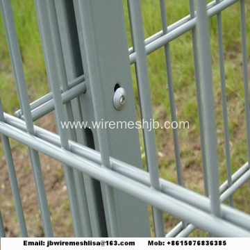 868/656 Powder Coated Double Wire Mesh Fence Panel