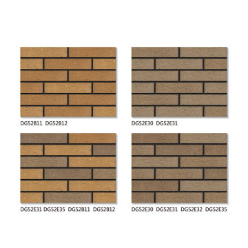 Antique faux brick veneer exterior