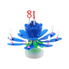 Electronical  lotus cake flower birthday music candle