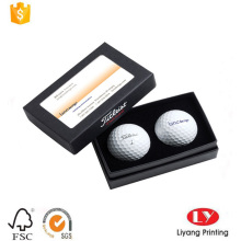 Rigid golf ball packaging cardboard box