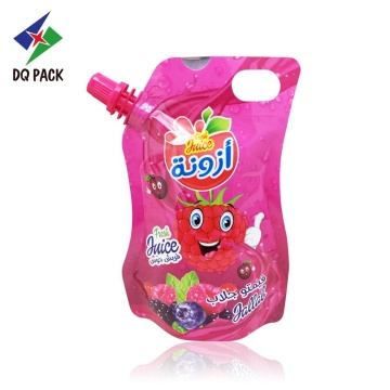 customized printing Injection juice stand up spout pouch