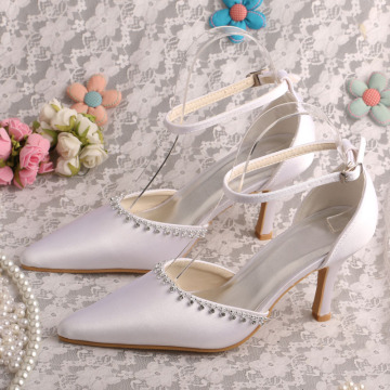 Pointed Toe Wedding Dress Sandals with Ankle Strap