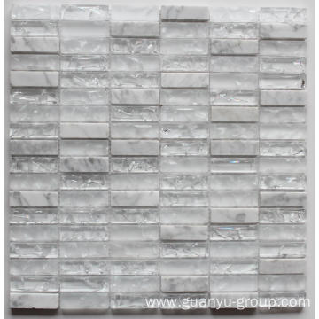 Marble And Cracked Glass Mosaic