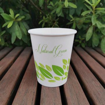 PLA Compostable Disposable Coffee Tea paper Cups 8oz