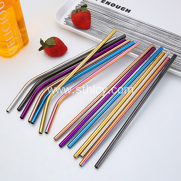 304 Stainless Steel Drinking Straw with Cleaning Brush